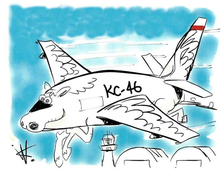 KC-46 Pegasus cartoon art