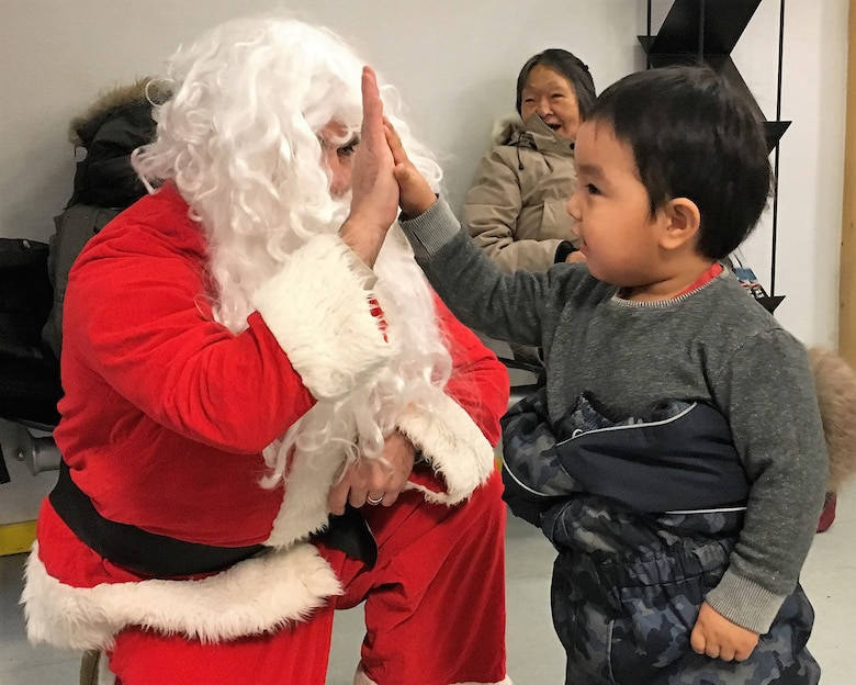 Thule Air Base, Greenland, personnel launched the first round of toy deliveries to remote Greenlandic villages Dec. 22, 2018.