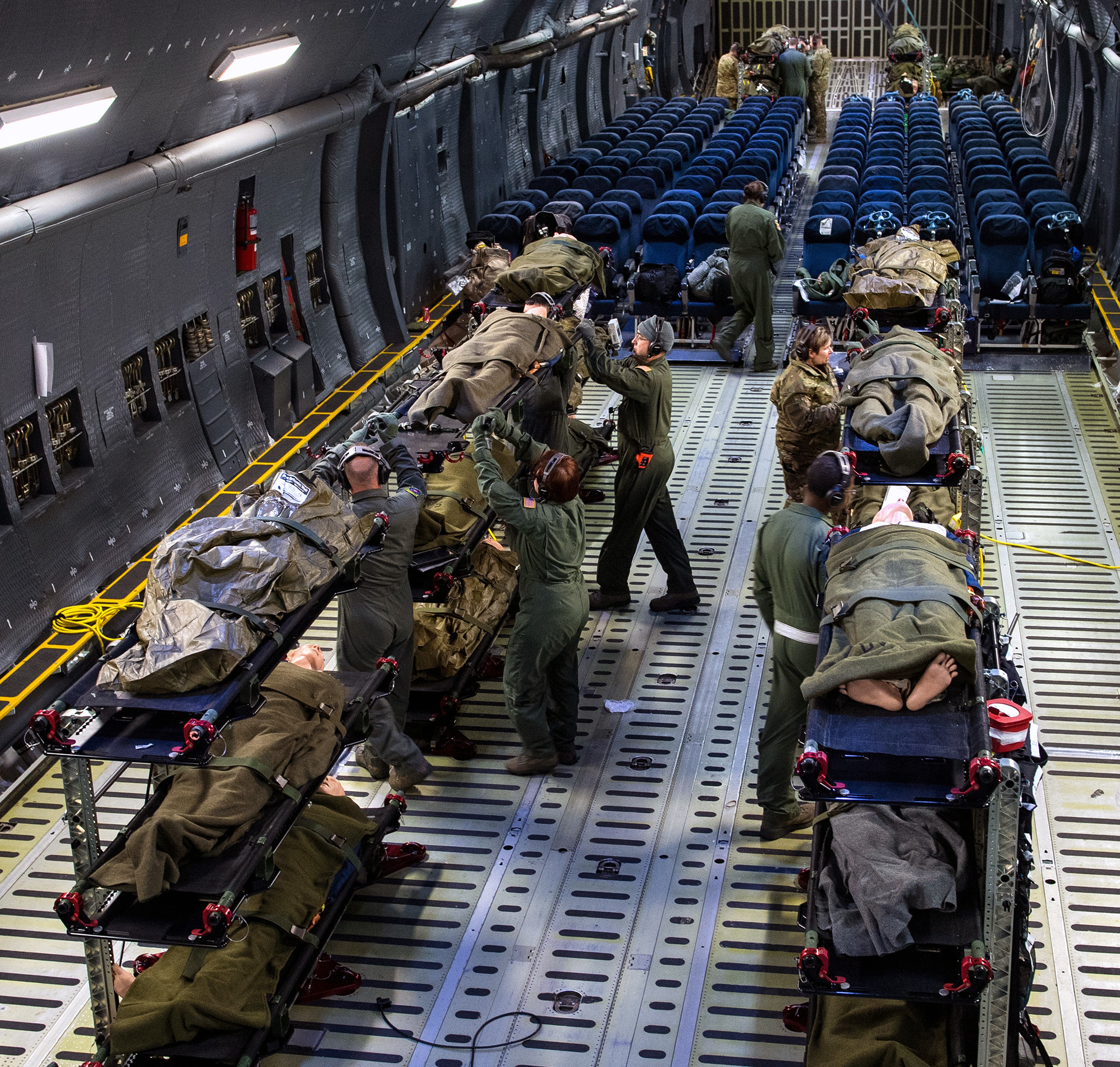 U.S. Airmen • Aeromedical Evacuation Training • C-5M Super Galaxy