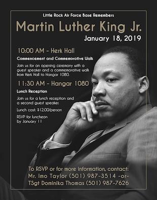 2019 Martin Luther King Jr. Observance event poster