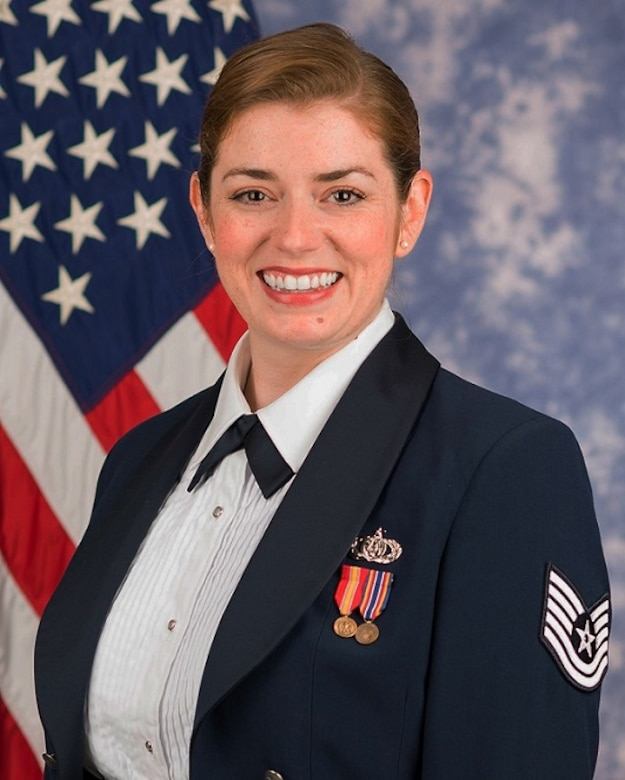 Official photo of Technical Sgt. Katie Baughman, soprano vocalist with The United States Air Force Singing Sergeants. (U.S. Air Force Photo by MSgt Brandon Chaney/released)