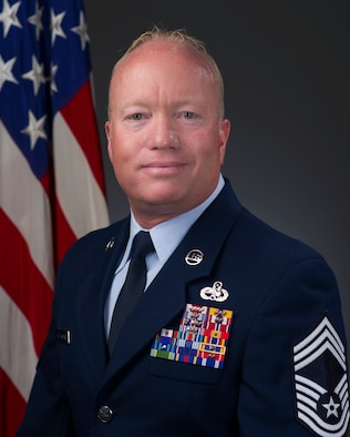 Chief Master Sgt. Steven Hesterman, official photo, U.S. Air Force