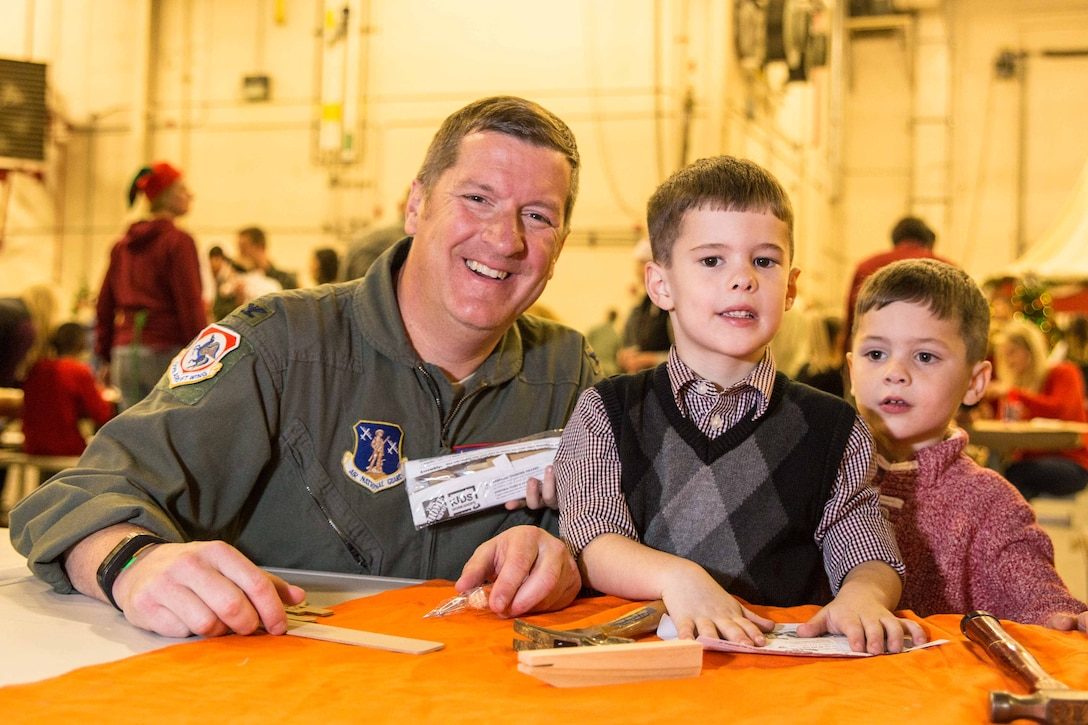 Airmen celebrate the holidays with their families