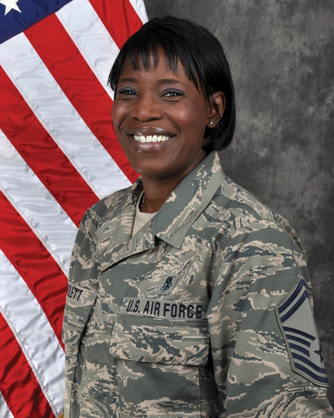 Senior Master Sgt. Chirron Hayslett, 445th Aeromedical Staging Squadron superintendent, is the 445th Airlift Wing Senior NCO of the Quarter, fourth quarter CY18.