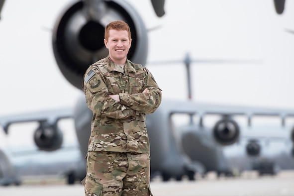 Second Lt. Trevor Whittington, a C-17 mobility pilot for the 167th Airlift Wing, is the 167th AW's Airman Spotlight for January 2019. (U.S. Air National Guard photo by Senior Master Sgt. Emily Beightol-Deyerle)