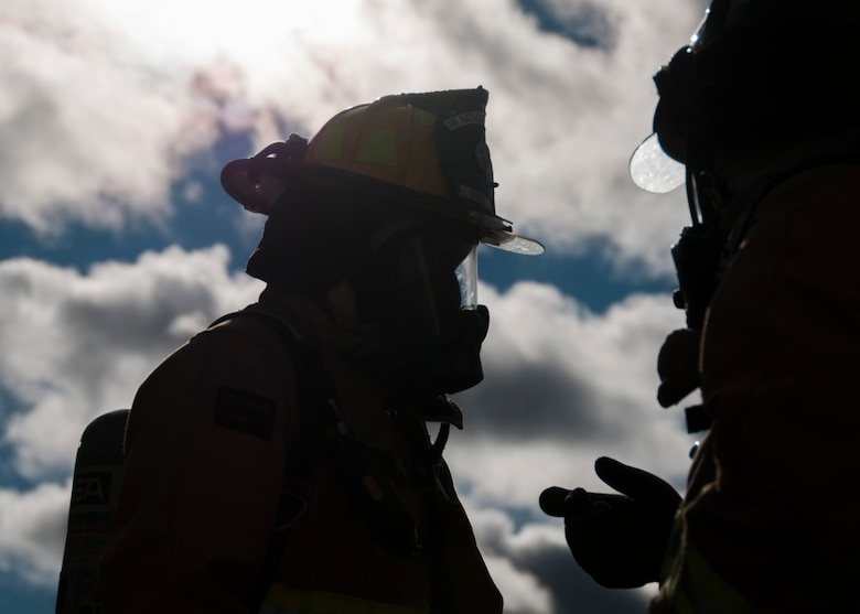 104th Civil Engineering Squadron firefighters conduct live structural fire training Nov. 27, 2018, at Barnes Air National Guard Base, Massachusetts. The training ensures the Fire Attack Teams are prepared to respond to any fires on base or in the surrounding communities. (U.S. Air National Guard photo by Airman 1st Class Randy Burlingame)