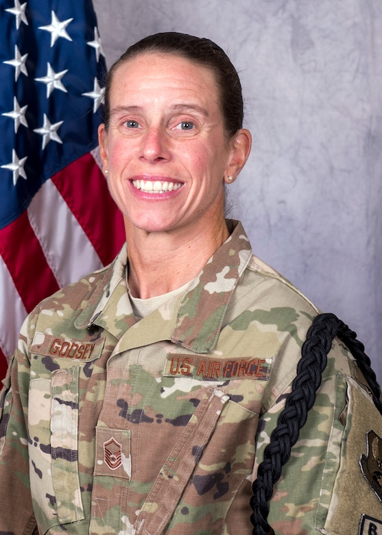 Master Sgt. Jennifer Godsey, 445th Force Support Squadron, currently deployed as the community activities center manager with the 386th Expeditionary Force Support Squadron, 386th Air Expeditionary Wing, Southwest Asia, has been selected as the 386th AEW Senior NCO of the Month.