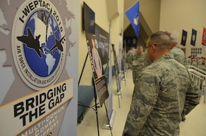 2018 Installation and Mission Support Weapons and Tactics Conference attendees read about one of the four mission area working group chairmen who led a team to think innovatively in tackling one of the Air Force's toughest agile combat support challenges during the San Antonio event out-brief. The May 16 out-brief presented proposed solutions to about 1,000 senior Air Force leaders and members of the installation and mission support community.