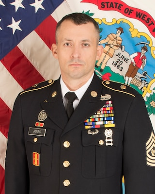 Command photo of Command Sgt. Maj. James D. Jones, West Virginia Army National Guard State Command Sgt. Maj.