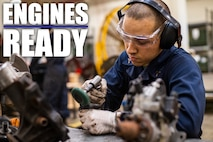 Lance Cpl. Alexander Garcia strips rust from engine parts Jan. 8, 2019, at Camp Kinser, Okinawa, Japan. Marines with Component Repair Platoon, General Support Maintenance Company, 3rd Maintenance Battalion, Combat Logistics Regiment 35, 3rd Marine Logistics Group, clean, rebuild and repair parts of motor vehicles to ensure that they are serviceable. Garcia, a native of Las Vegas, Nevada, is a motor transportation mechanic with CRP, GSM Co., 3rd Maint. Bn., CLR-35, 3rd MLG. (U.S. Marine Corps photo by Lance Cpl. Terry Wong)