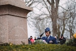 Col. Eric Laughton, commander of the 107th Medical Group, New York Air National Guard, lays a wreath at the grave of President Millard Fillmore on behalf of President Donald Trump during a ceremony honoring him on his birthday, Forest Lawn Cemetery, Buffalo, N.Y., Jan. 7, 2019. Fillmore was president from 1850-1853, and has a wreath laid at his grave every year on his birthday by the 107th Attack Wing, New York Air National Guard.