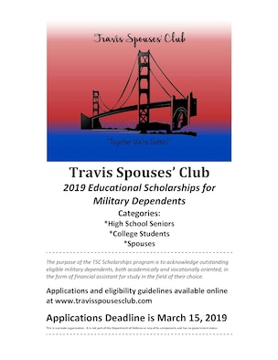 Travis Spouses Club offers scholarships