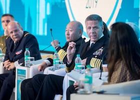 Admiral speaks as part of panel.