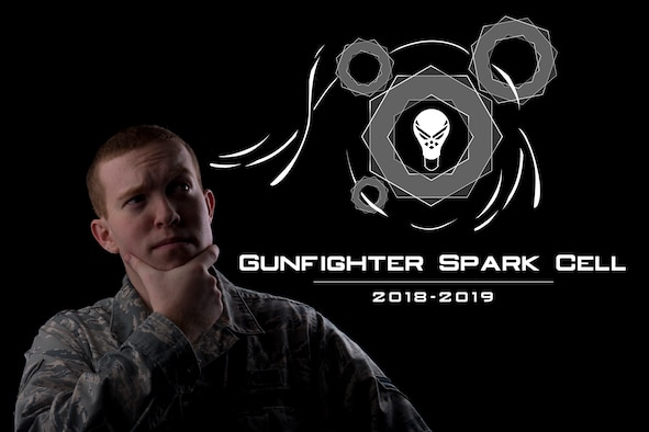 The 366th Fighter Wing is designing solutions and improving processes with the Gunfighter Spark Cell innovation competition, a program designed to allow Airmen to submit recommendations for improving processes within their workplaces. (U.S. Air Force photo illustration by Airman 1st Class JaNae Capuno)