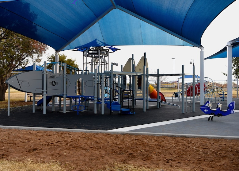A new playground at Fowler Park was officially opened Jan. 9, 2018, at Luke Air Force Base, Ariz.
