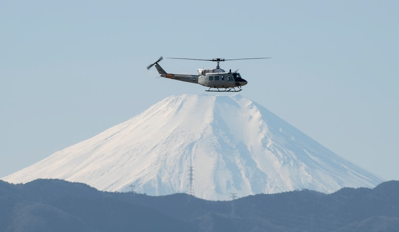 Helicopter over Mt. Fuji