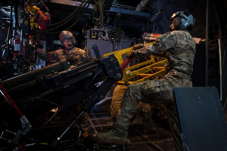 Aircrew with the 4th Special Operations Squadron conduct a routine training mission