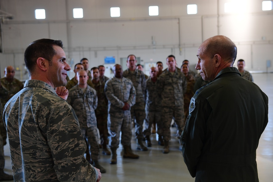 Holmes with Airmen