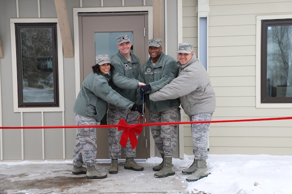 The new state-of-the-art, eight-person unaccompanied Airmen dormitory at Cavalier Air Force Station, North Dakota, is now open for use.