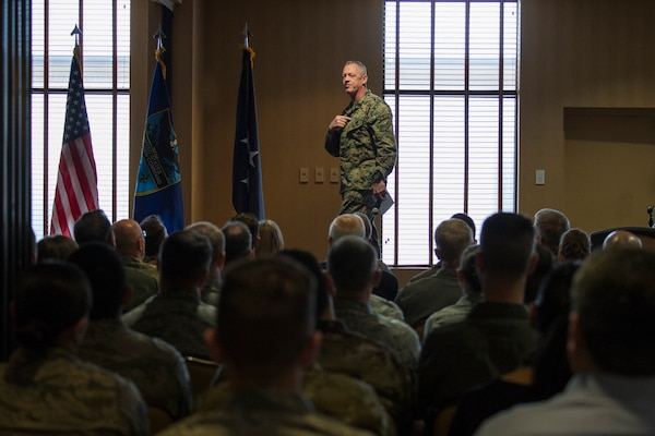 Admiral Faller USSOUTHCOM Commander visits 12th Air Force (Air Forces Southern)