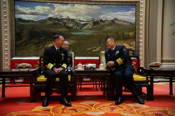 CNO Visits Chinese Counterpart in Beijing