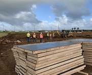 Honolulu District deployed personnel on Saipan to assist with FEMA's continuing temporary power generation mission are also now managing the work to complete 42 temporary classrooms for the new temporary campus of the Admiral Herbert G. Hopwood Middle School near the Koblerville Elementary School. USACE serves as the lead agency to respond with public works and engineering support and to coordinate long-term infrastructure recovery in the aftermath of Super Typhoon Yutu.