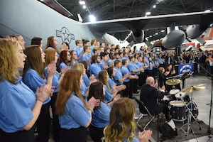 DAYTON, Ohio -- The All-Ohio State Fair Youth Choir perform for visitors on Jan 13, 2019 at the National Museum of the U.S. Air Force as part of the Science, Discovery and Family Fun Event. (U.S. Air Force photo by Ken LaRock)