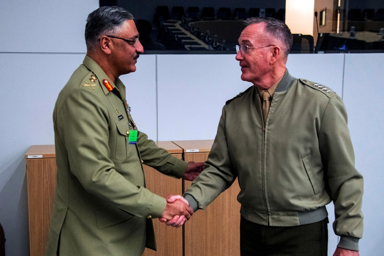 Joint Chiefs chairman talks with Pakistani counterpart
