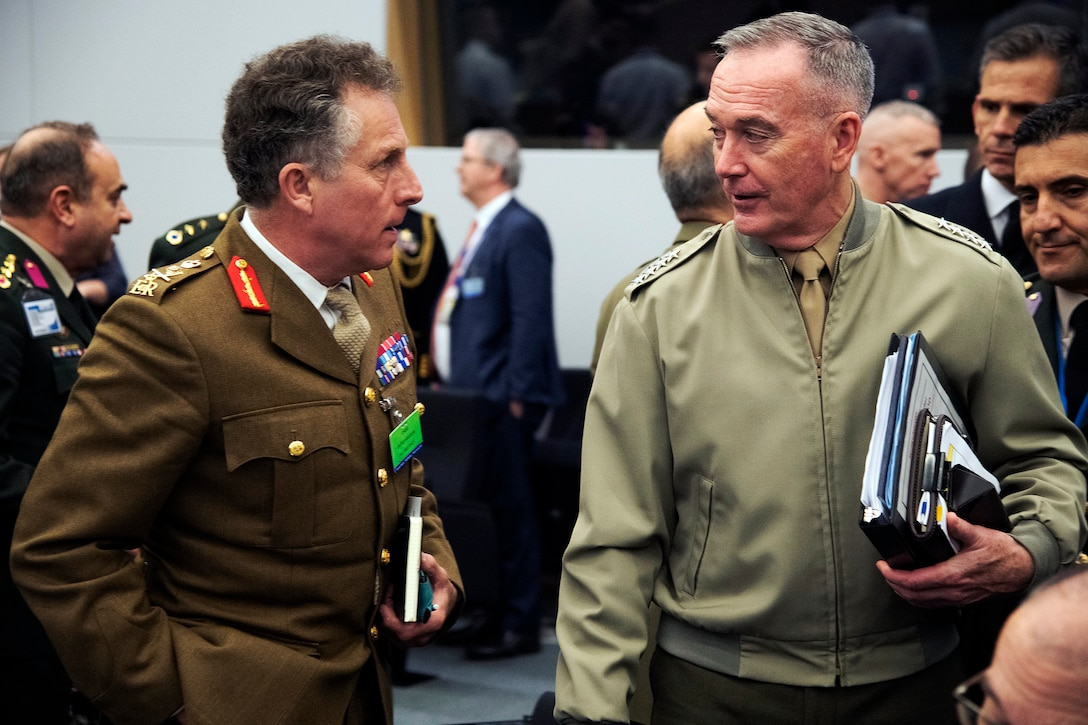 Joint chiefs chairman talks with British counterpart
