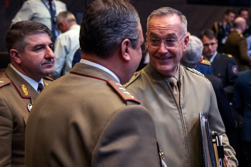 Joint Chiefs chairman talks with counterparts at NATO headquarters