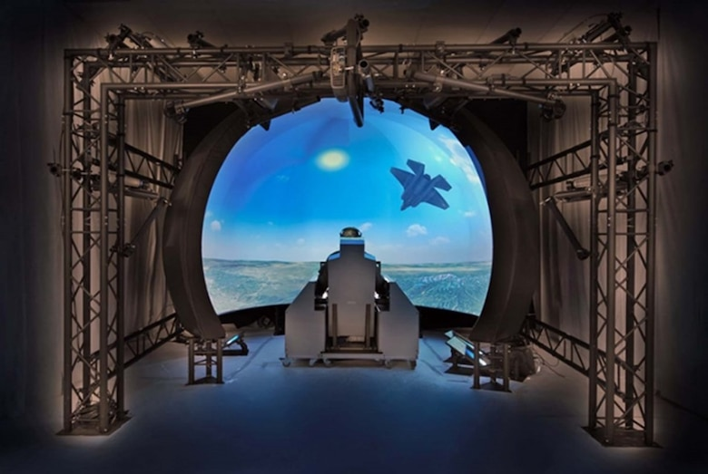 An artist's rendering showcases a Joint Simulation Environment station. The 412th Electronic Warfare Group is currently reconfiguring building 1020 in order to install a JSE simulator in preparation for the construction of a 70,000 square foot facilty. (U.S. Air Force graphic illustration couresty of 412th Electronic Warfare Group)