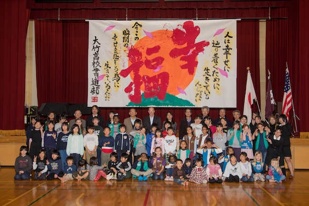 Girl Scouts write in new year with Kakizome