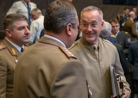 Marine Corps Gen. Joe Dunford, the chairman of the Joint Chiefs of Staff, attends the North Atlantic Treaty Organization (NATO) Military Committee in Chiefs of Defense Session (MC/CS) in Brussels, Belgium, Jan. 15, 2019.