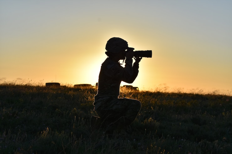 A military photographer in Spain