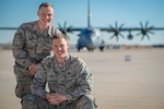 Airmen 1st Class and brothers Christian, left, and Harrison Linde are both crew chiefs in the Wyoming Air National Guard's 153rd Airlift Wing. The brothers went through basic and advanced training together.