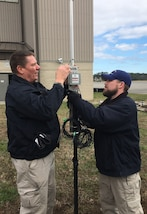 "Ronald Lockerby (left) and Aaron Plichta (right), members of Joint Task Force Civil Support's (JTF-CS) communication department, participate in the command's first tactical satellite (TACSAT) communication exercise (COMMEX) of the new year January 15, 2019 at Felker Army Airfield on Fort Eustis in preparation for exercise Sudden Response 19 (SR19) held on January 24-30. SR19, held at Fort Bragg, NC this year, is a command-led exercise that tests JTF-CS and Defense Chemical, Biological, Radiological and Nuclear (CBRN) Response Force (DCRF) capabilities to response to a catastrophic CBRN event. When directed, JTF-CS is ready to respond in 24 hours to provide command and control of 5,200 federal military forces located at more than 36 locations throughout the nation in support of civil authority response operations to save lives, prevent further injury and provide critical support to enable community recovery. (Official DoD photo by David ""Rick"" George/released)"