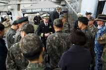 Republic of Korea Officials Visit USS Barry