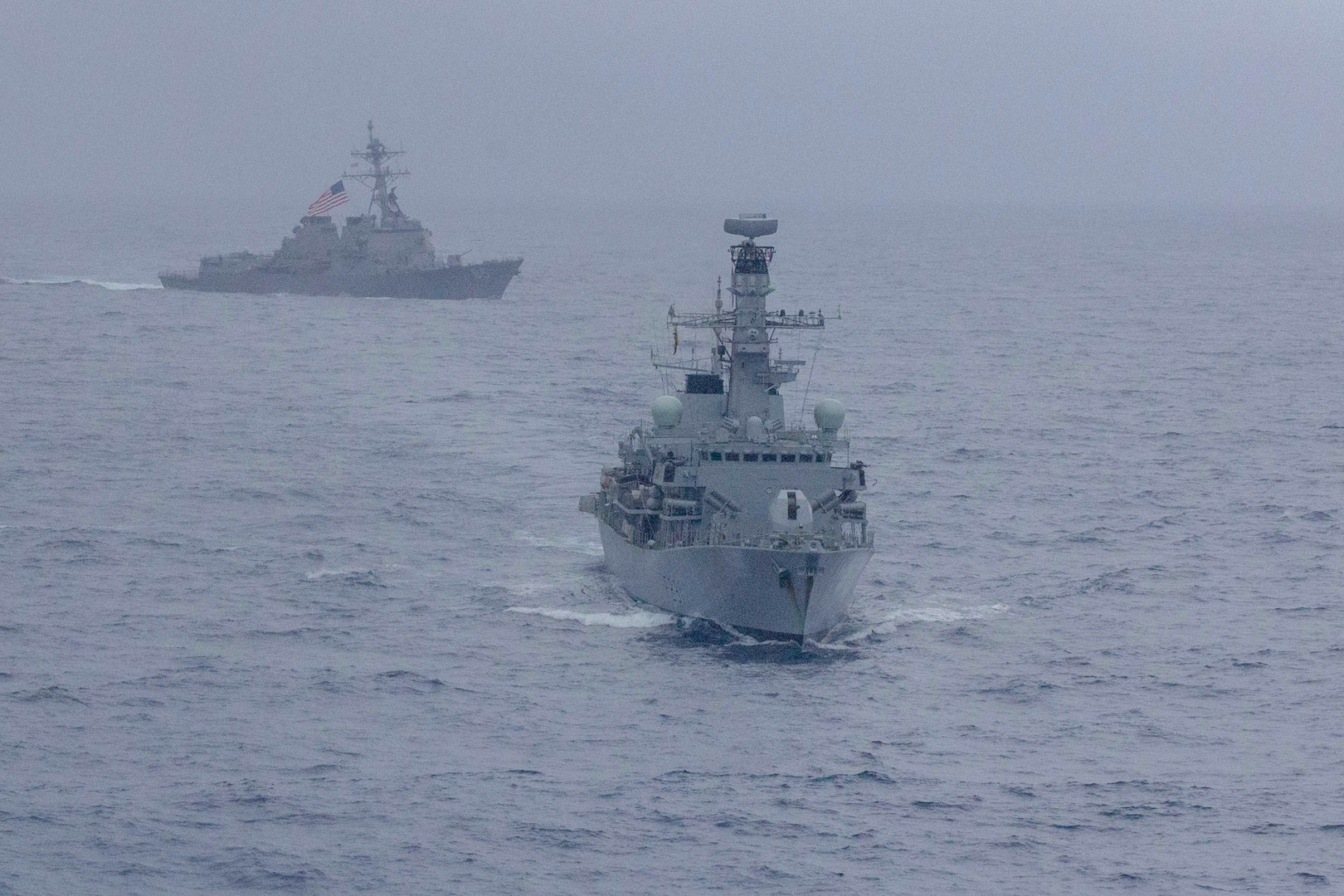 American, British Navies Sail together in South China Sea