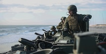 Marines with Alpha Co. 2nd AA Bn. take the beach