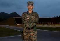 United States Marine Corps Sgt. David Lam, an assistant warehouse chief with 3rd Transportation Support Battalion, pictured here aboard Marine Corps Base Camp Hansen in Okinawa, Japan, was one of seven Marines who acted quickly to save an U.S. Airman's life following a recent motorcycle accident Dec. 31, 2018.  Lam, a native of San Jose, Calif., reported the accident, checked the injured and stood in the middle of the road directing traffic to allow emergency services to arrive.