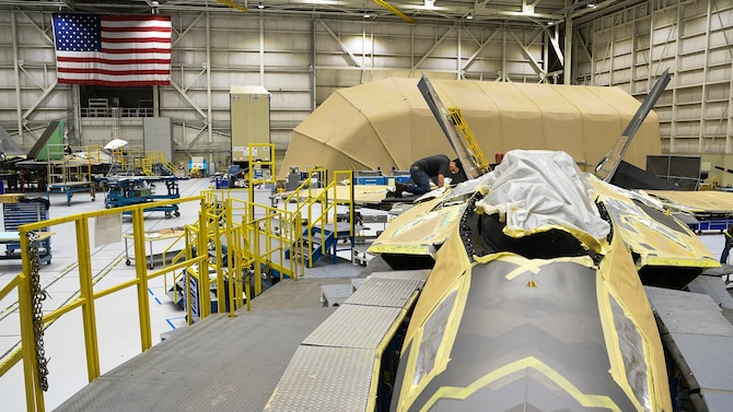 The 574th installed the first metallic 3D printed part on an operational F-22 in December 2018.