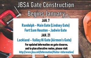 Gate closure, construction, JBSA