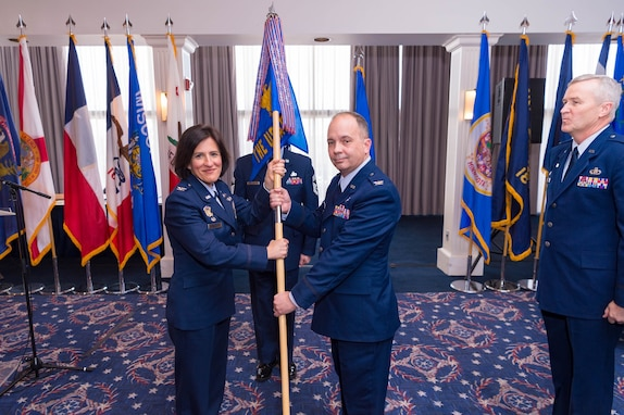Col. Don Schofield as he takes command of The United States Air Force Band in a ceremony at Joint Base Anacostia-Bolling, Washington D.C., on Jan. 15, 2019.
