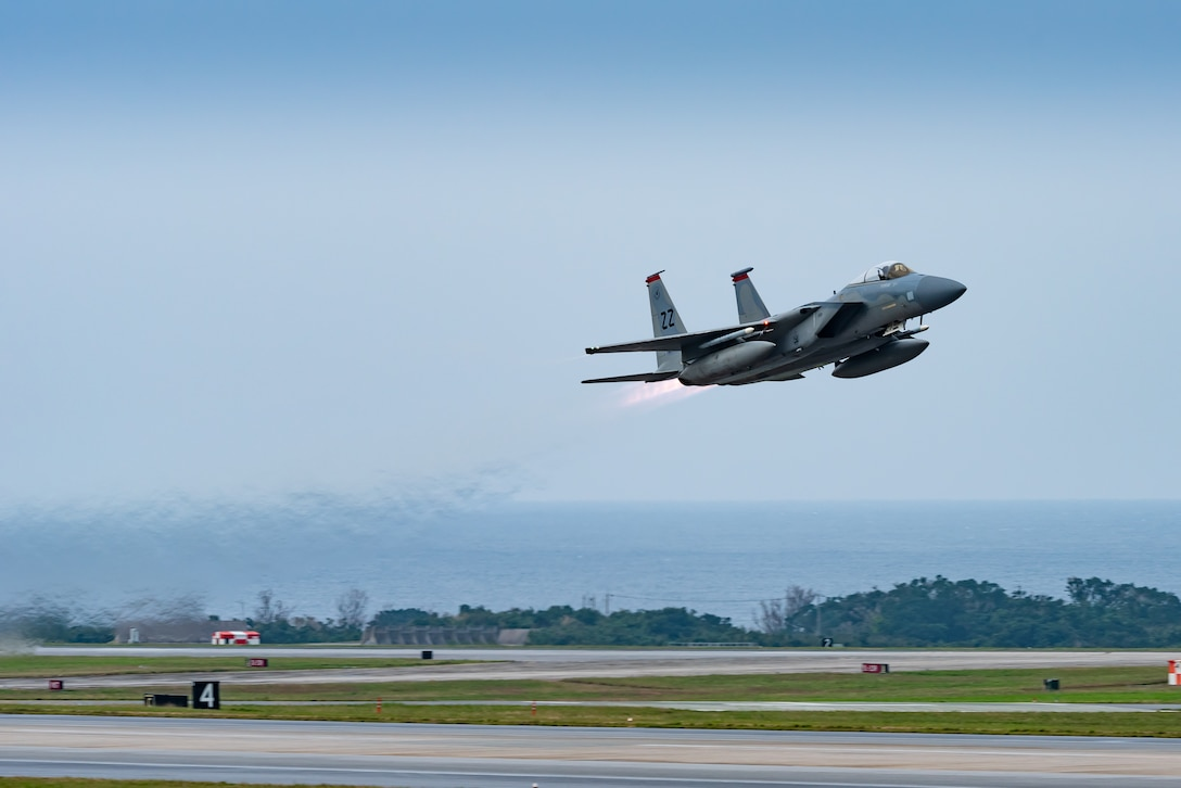 F-15C Eagle takes off