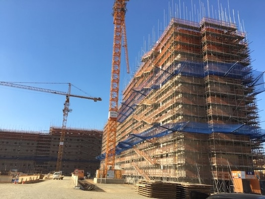 New housing under construction on Camp Humphreys