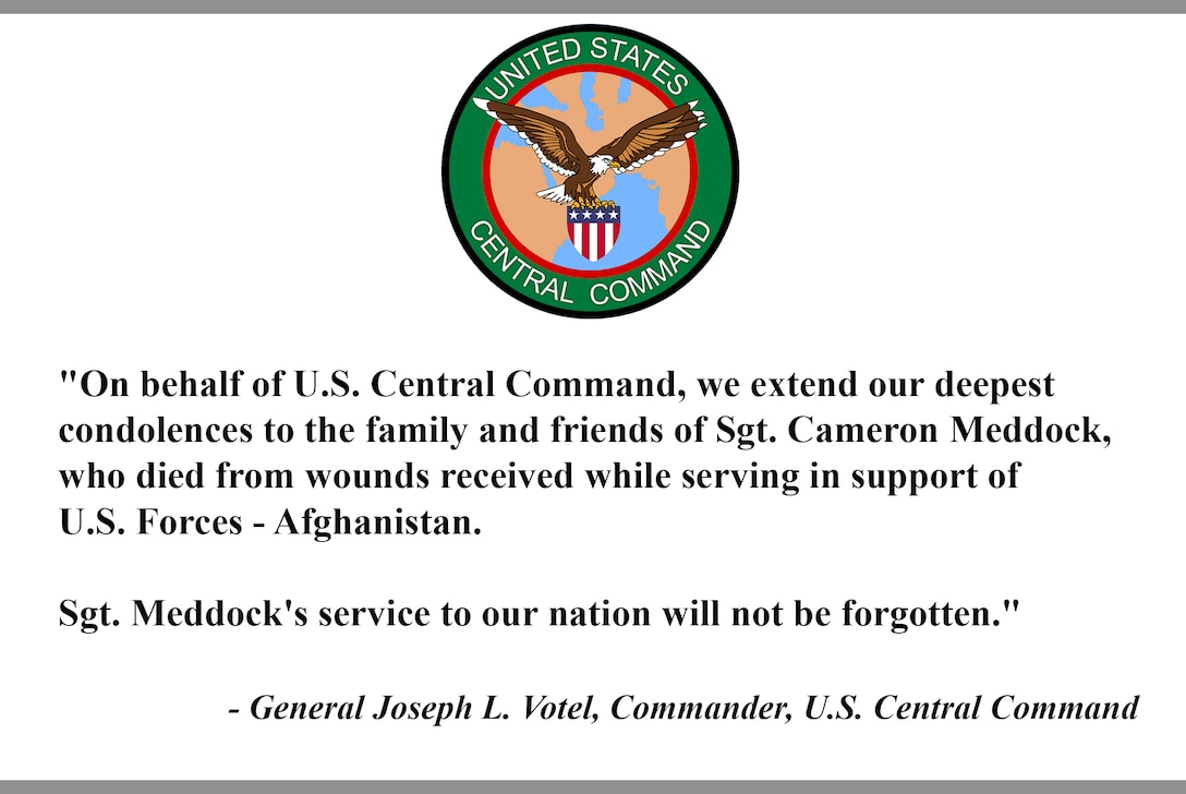 """On behalf of U.S. Central Command, we extend our deepest