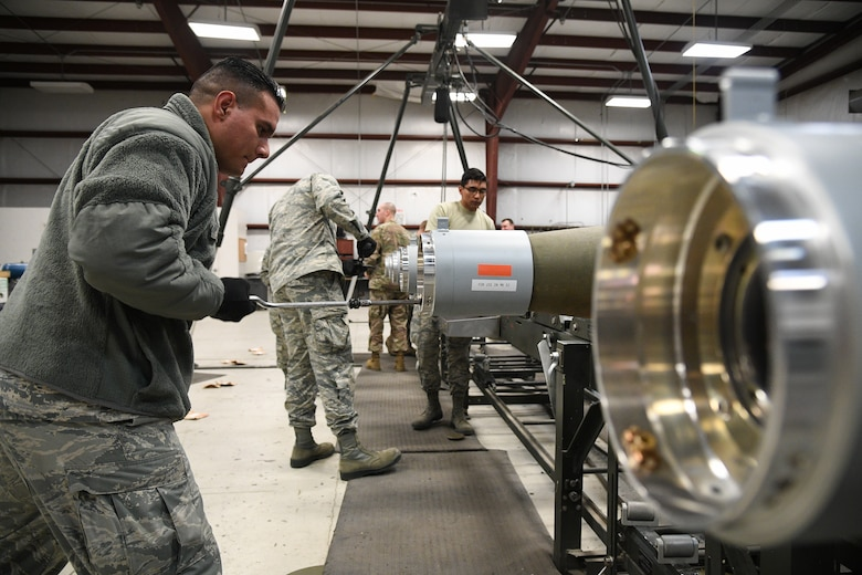 388th Maintenance Squadron Munitions Flight builds bombs during training.