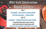 Inbound lanes for the Valley-Hi (Airmen's Gate) will be completely closed beginning Jan. 21 while normal outbound lanes will be transitioned to accommodate two-way traffic.