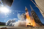 DLA Energy Aerospace supplied the propellants for both the rocket and the payload for the liftoff of United Launch Alliance Delta 4 rocket. It launched successfully at Vandenberg Air Force Base, California, Jan. 19. Courtesy photo