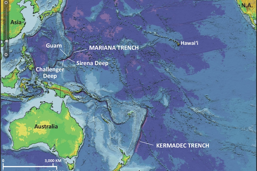 A map of the Western Pacific Ocean.